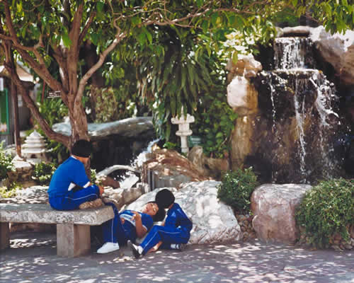 School Children By The Fountain